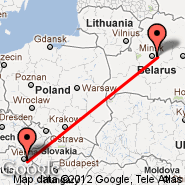 Vienna (Schwechat International, VIE) - Minsk (Minsk International 2, MSQ)