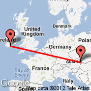 Dunaj (Schwechat International, VIE) - Cork (Cork International Airport, ORK)