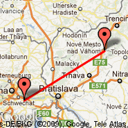 Vienna (Schwechat International, VIE) - Piestany (PZY)