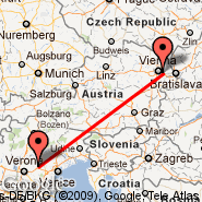 Vienna (Schwechat International, VIE) - Vicenza (Trissino, VIC)