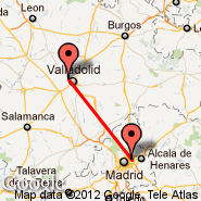 Valladolid (VLL) - Madrid (Barajas, MAD)