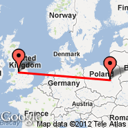 Warsaw (Frederic Chopin, WAW) - Manchester (Ringway International Airport, MAN)