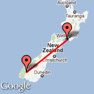Wellington (Wellington International, WLG) - Te Anau (Manapouri, TEU)