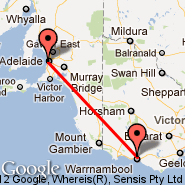 Warrnambool (WMB) - Adelaide (Adelaide International Airport, ADL)