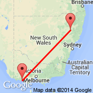 Warrnambool (WMB) - Tamworth (Tamworth Regional Airport, TMW)