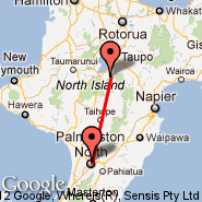 Whitianga (WTZ) - Palmerston North (PMR)