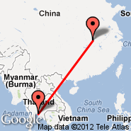 Wuhan (Tianhe International, WUH) - Bangkok (Suvarnabhumi International, BKK)