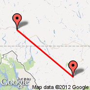 Dease Lake (YDL) - Whitehorse (Whitehorse International, YXY)