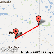 Edmonton (Edmonton International, YEG) - Cold Lake (Cold Lake Regional, YOD)