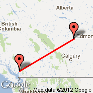 Edmonton (Edmonton International, YEG) - Squamish (YSE)