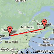 Kingston (Kingston/Norman Rogers Airport, YGK) - Gagetown (YCX)