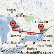 Kingston (Kingston/Norman Rogers Airport, YGK) - Owen Sound (Billy Bishop Regional, YOS)