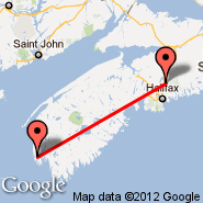 Halifax (Halifax International, YHZ) - Yarmouth (Yarmouth, YQI)