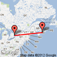 Halifax (Halifax International, YHZ) - Toronto (Toronto Pearson International, YTO)