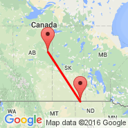 Fort Mcmurray (YMM) - Estevan (YEN)