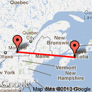 Montreal (Metropolitan Area, YMQ) - Halifax (Halifax International, YHZ)