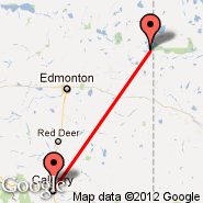 Cold Lake (Cold Lake Regional, YOD) - Calgary (Calgary International Airport, YYC)