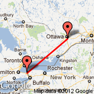Ottawa (Ottawa Macdonald-Cartier International, YOW) - St Catharines (St Catharines, YCM)