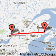 Ottawa (Ottawa Macdonald-Cartier International, YOW) - Gagetown (YCX)