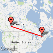 Ottawa (Ottawa Macdonald-Cartier International, YOW) - Edmonton (Edmonton International, YEG)