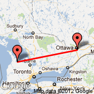 Ottawa (Ottawa Macdonald-Cartier International, YOW) - Owen Sound (Billy Bishop Regional, YOS)