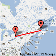 Moncton (Greater Moncton International Airport, YQM) - Toronto (Toronto Pearson International, YTO)