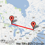 Thunder Bay (YQT) - Montreal (Metropolitan Area, YMQ)