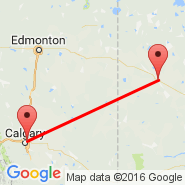 North Battleford (YQW) - Calgary (Calgary International Airport, YYC)