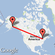 Toronto (Toronto Pearson International, YTO) - Anchorage (Ted Stevens Anchorage International Airport, ANC)