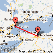 Toronto (Toronto Pearson International, YTO) - Rochester (Greater Rochester International, ROC)