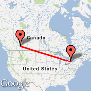 Toronto (Toronto Pearson International, YTO) - Banff (YBA)