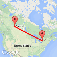 Toronto (Toronto Pearson International, YTO) - Bonnyville (YBY)