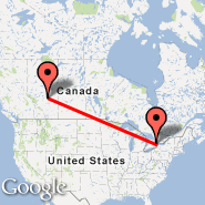 Toronto (Toronto Pearson International, YTO) - Edmonton (Edmonton International, YEG)