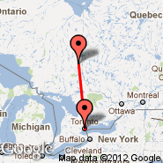 Toronto (Toronto Pearson International, YTO) - Kirkland Lake (YKX)