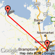 Toronto (Toronto Pearson International, YTO) - Owen Sound (Billy Bishop Regional, YOS)