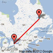 Toronto (Toronto Pearson International, YTO) - Churchill Falls (ZUM)
