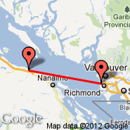 Vancouver (Vancouver Intl, YVR) - Parksville (Railway Station, XPB)