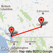 Vancouver (Vancouver Intl, YVR) - Calgary (Calgary International Airport, YYC)