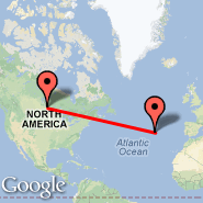 Winnipeg (James Armstrong Richardson International Airport, YWG) - Sao Jorge/Azores (Sao Jorge Island, SJZ)