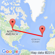 Winnipeg (James Armstrong Richardson International Airport, YWG) - Terceira/Azores (Lajes Ab, TER)