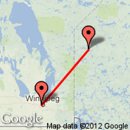 Winnipeg (James Armstrong Richardson International Airport, YWG) - Poplar Hill (YHP)