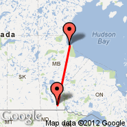 Winnipeg (James Armstrong Richardson International Airport, YWG) - Churchill/Manitoba (Metropolitan Area, YYQ)