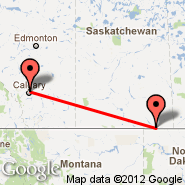 Calgary (Calgary International Airport, YYC) - Estevan (YEN)