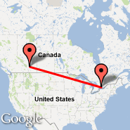 Calgary (Calgary International Airport, YYC) - Peterborough (YPQ)