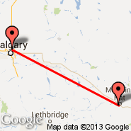 Calgary (Calgary International Airport, YYC) - Medicine Hat (YXH)