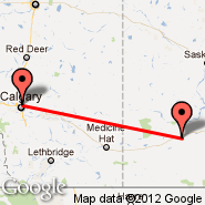 Calgary (Calgary International Airport, YYC) - Swift Current (YYN)