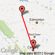 Calgary (Calgary International Airport, YYC) - Whitecourt (YZU)