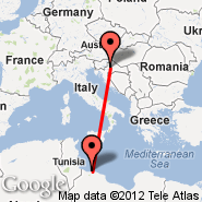 Zagreb (Pleso, ZAG) - Tripoli (International, TIP)