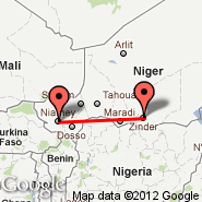 Zinder (ZND) - Niamey (Diori Hamani International Airport, NIM)