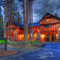 Five Pine Lodge in Sisters Oregon.  Late Evening Shot